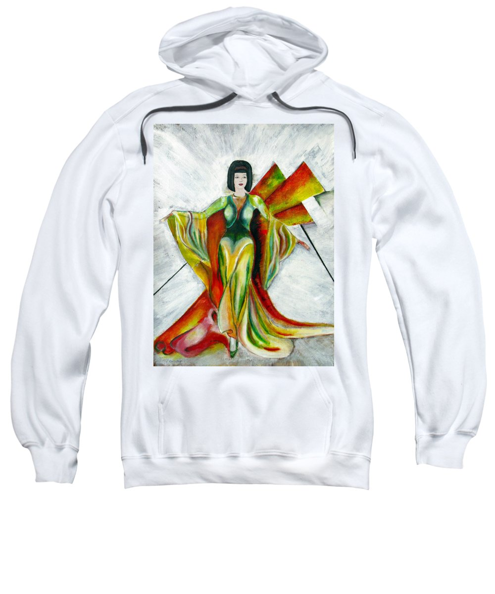 Dress Sweatshirt featuring the painting Here Comes The Sun by Tom Conway