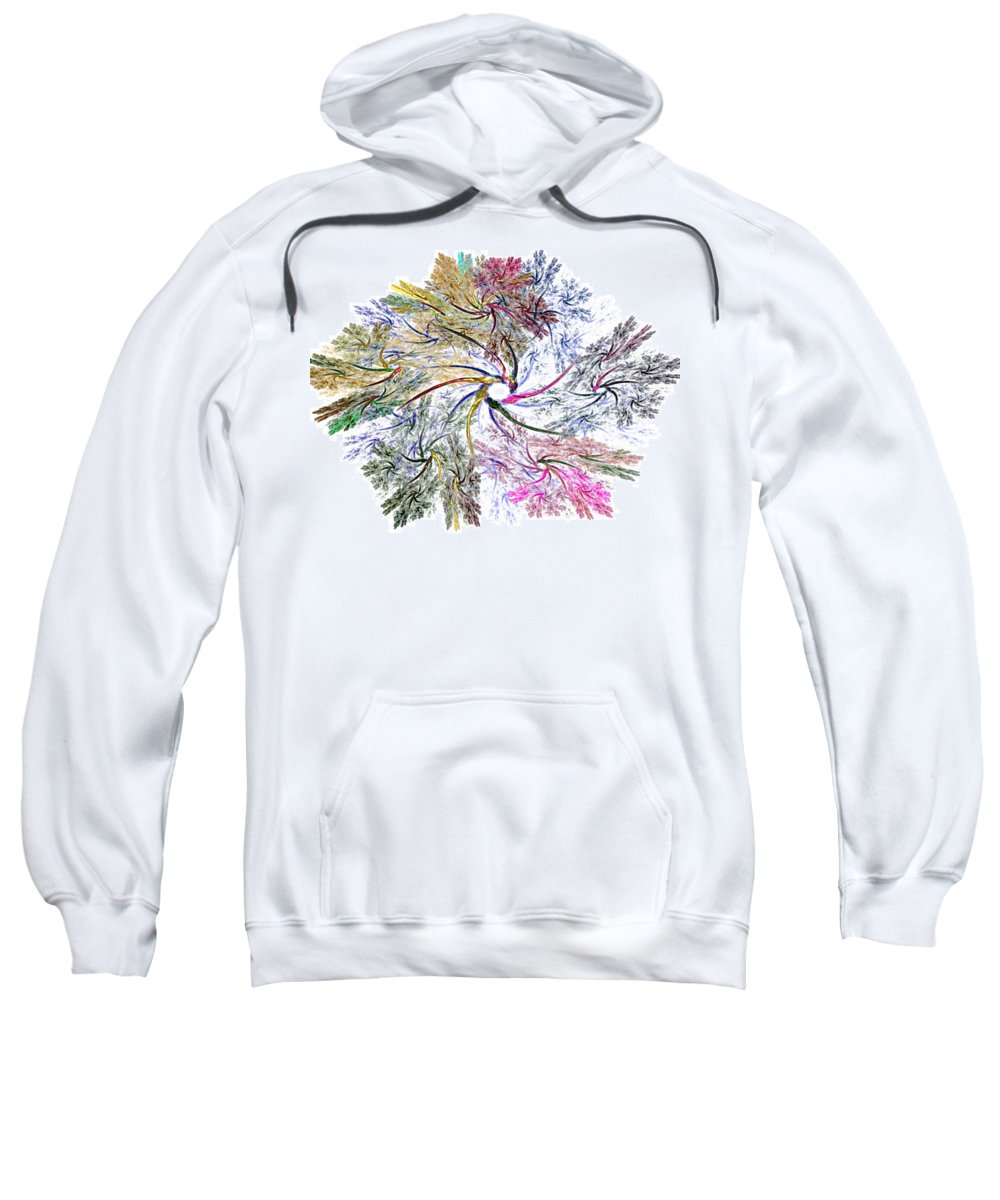 Fine Art Sweatshirt featuring the digital art Here There Be Dragons by David Lane