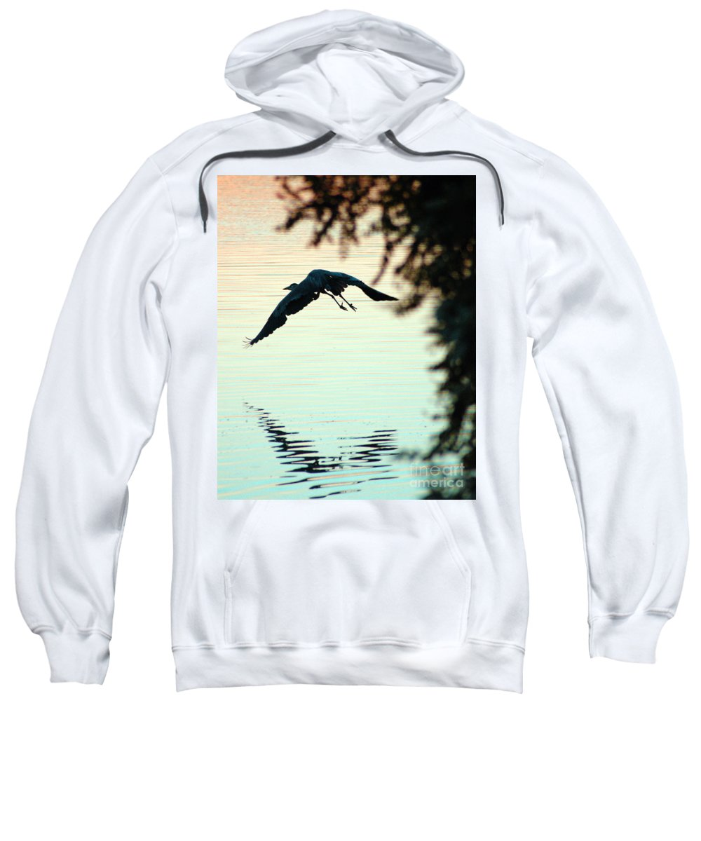 Clay Sweatshirt featuring the photograph Heron At Dusk by Clayton Bruster