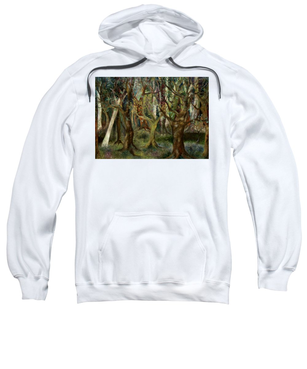 Fantasy Sweatshirt featuring the painting Hidden Pond by FT McKinstry