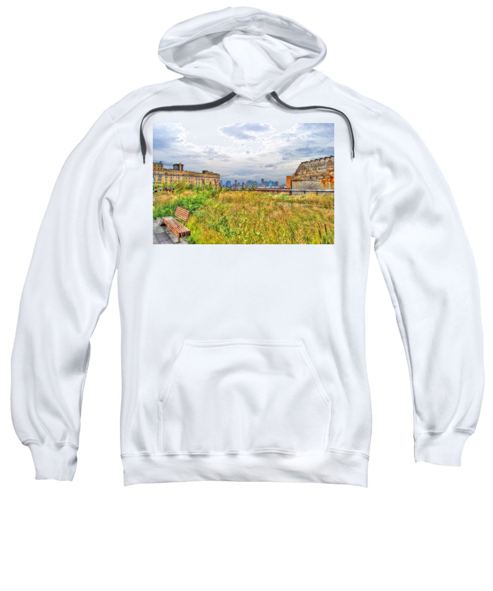 High Line Park Sweatshirt featuring the photograph High Line On The Hudson by Randy Aveille