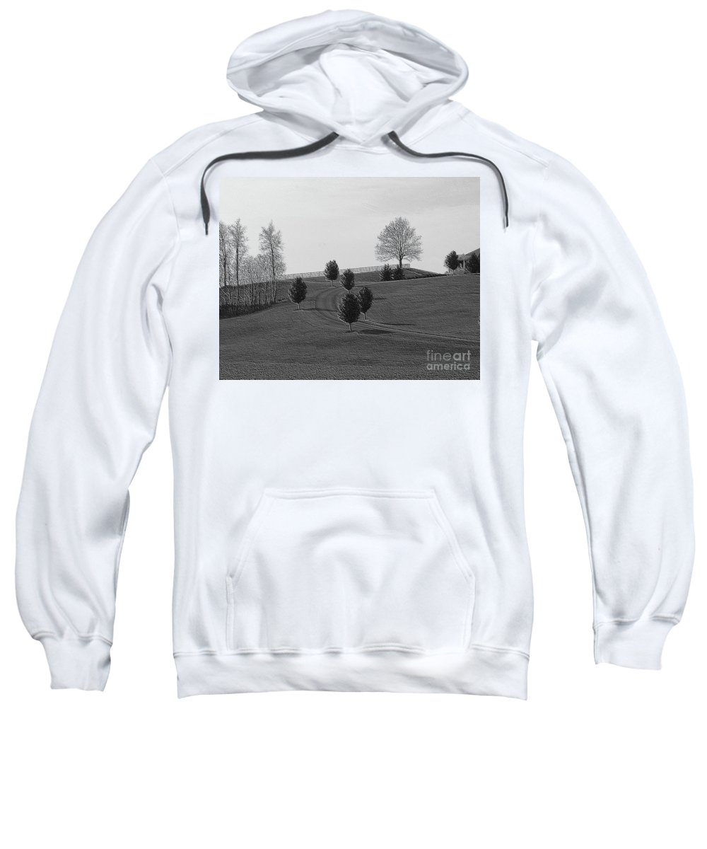 Country Sweatshirt featuring the photograph High On A Hill by Kathleen Struckle