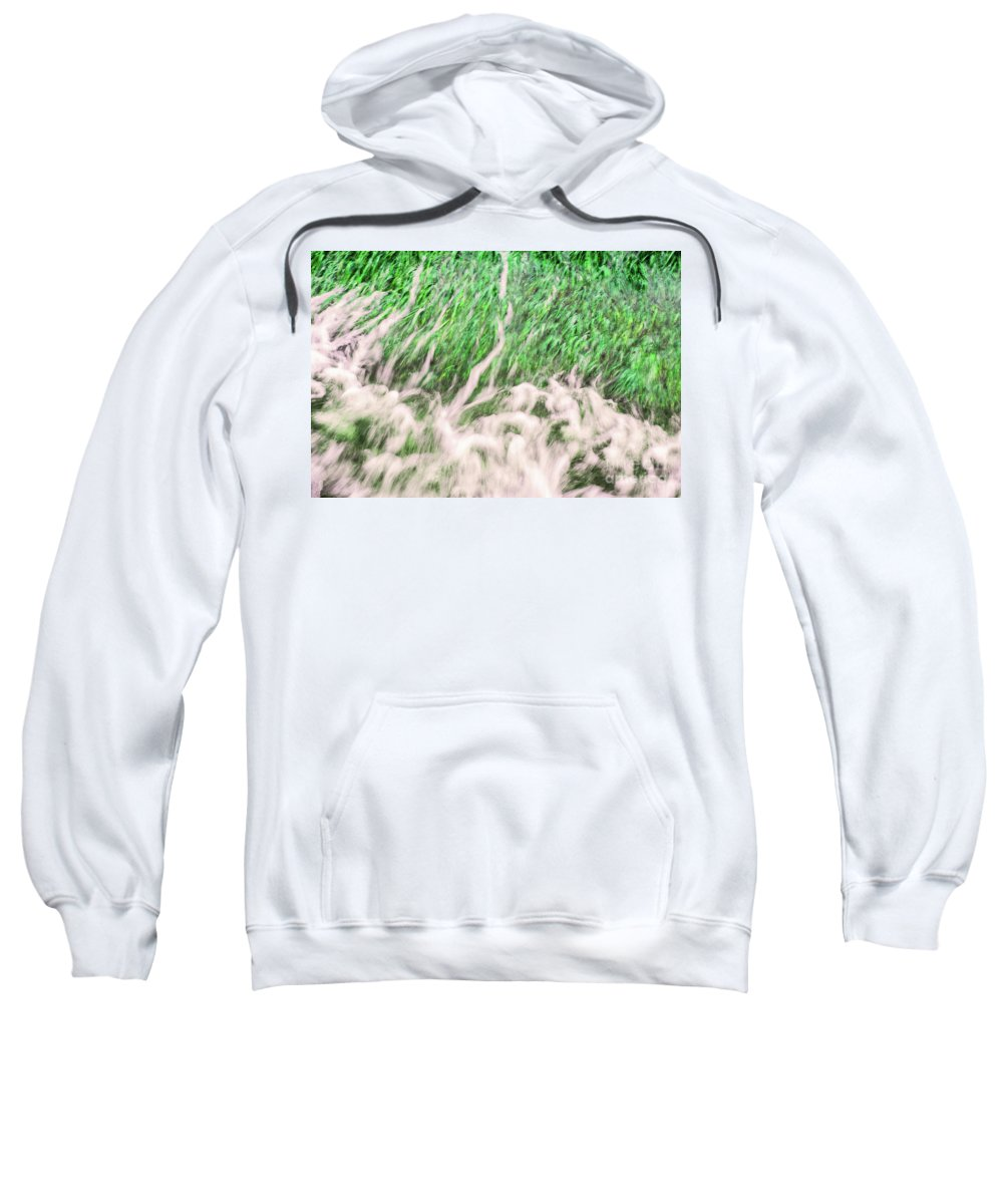 Grass Sweatshirt featuring the photograph High Tide by Margaret Koc