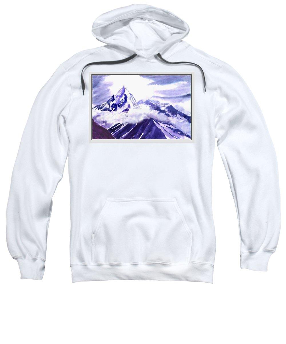 Landscape Sweatshirt featuring the painting Himalaya by Anil Nene