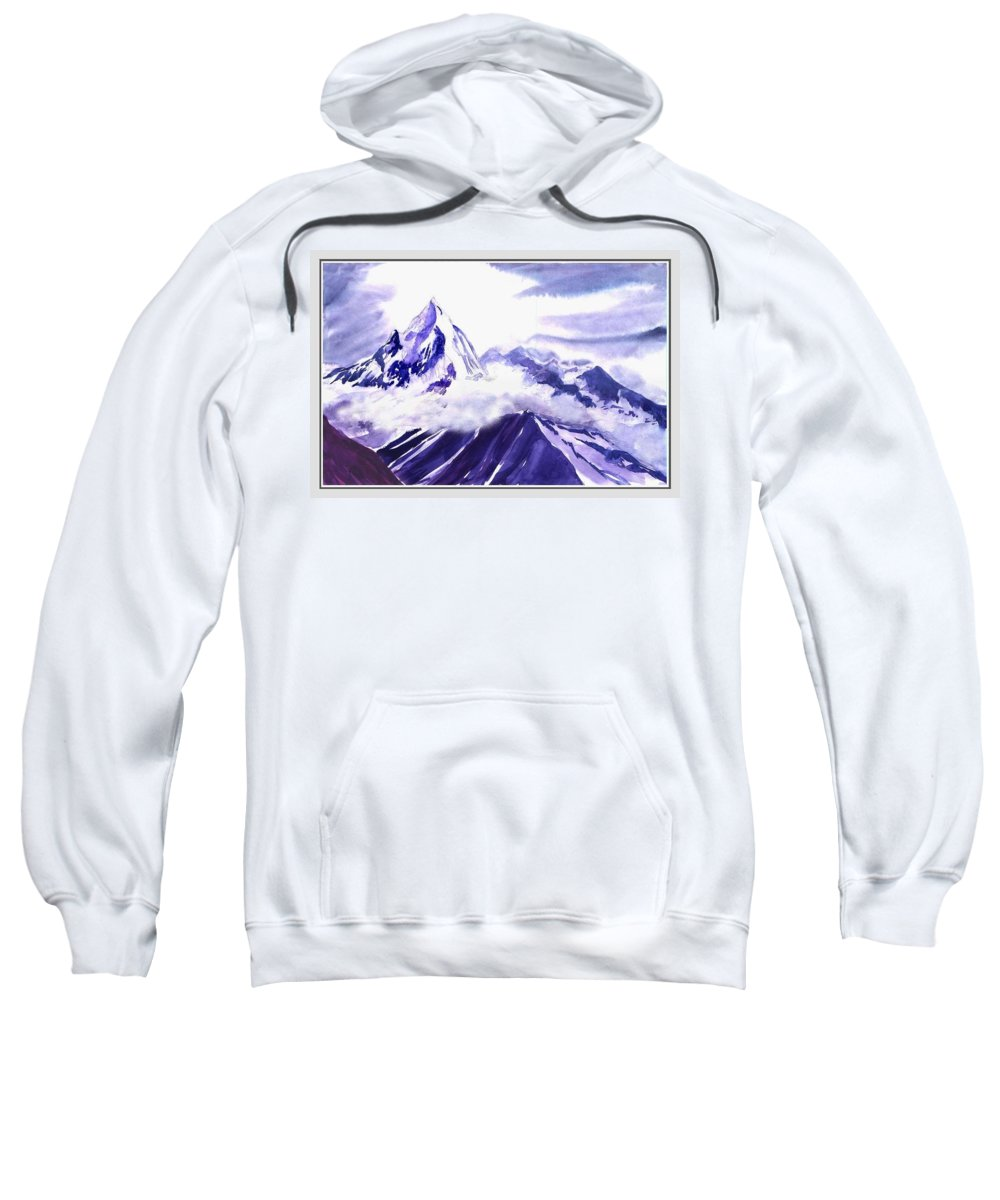 Landscape Sweatshirt featuring the painting Himalaya by Anil Nene