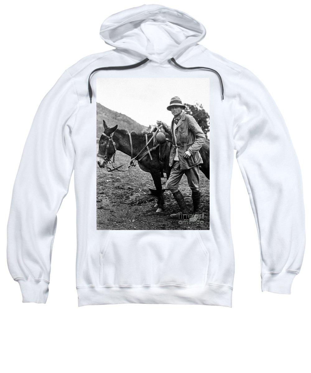 1911 Sweatshirt featuring the photograph Hiram Bingham (1875-1956) by Granger