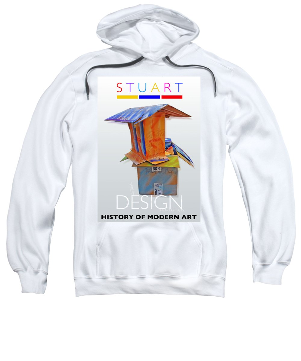 De Stijl Sweatshirt featuring the photograph History Of Modern Art by Charles Stuart