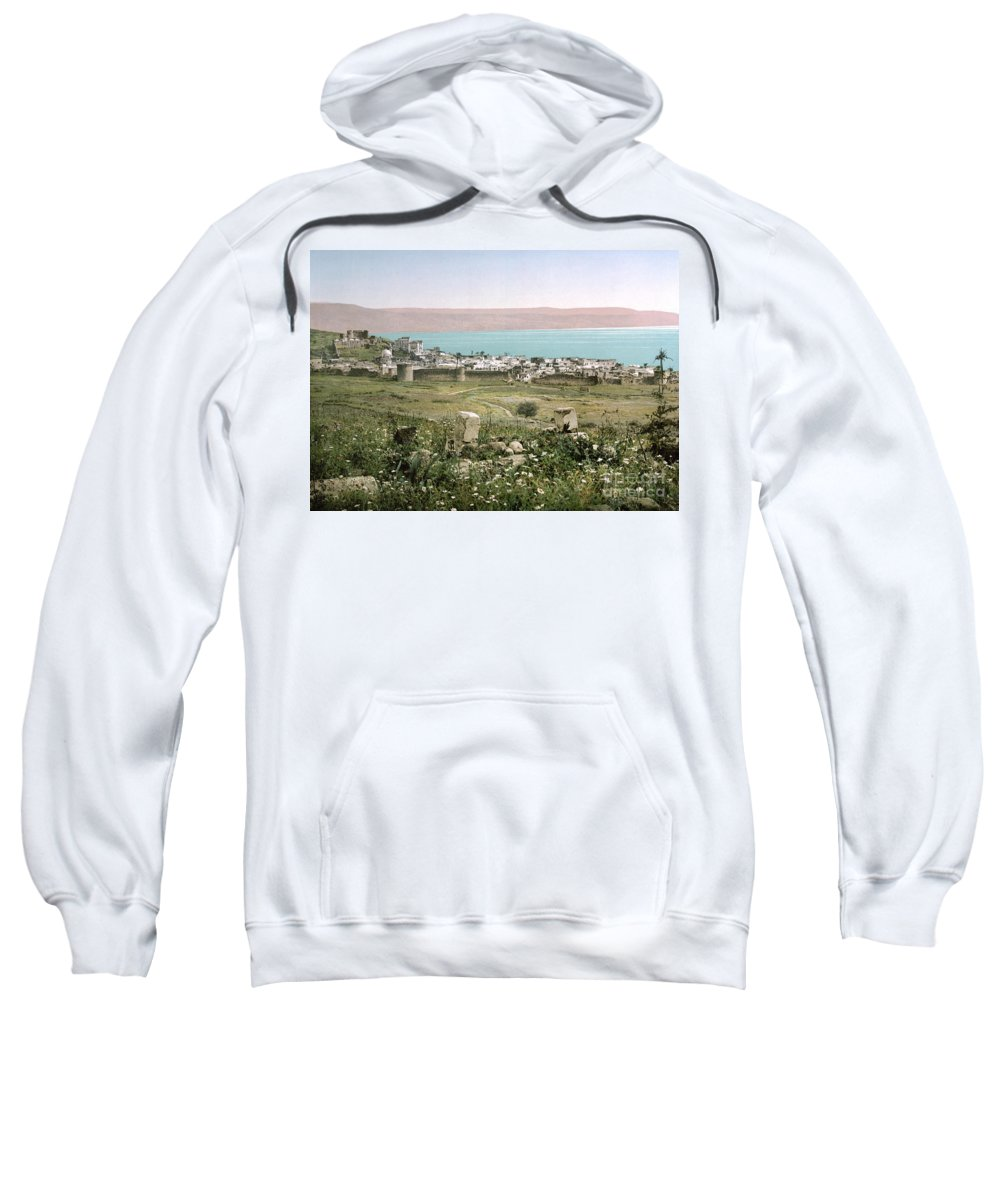 1895 Sweatshirt featuring the photograph Holy Land: Tiberias by Granger