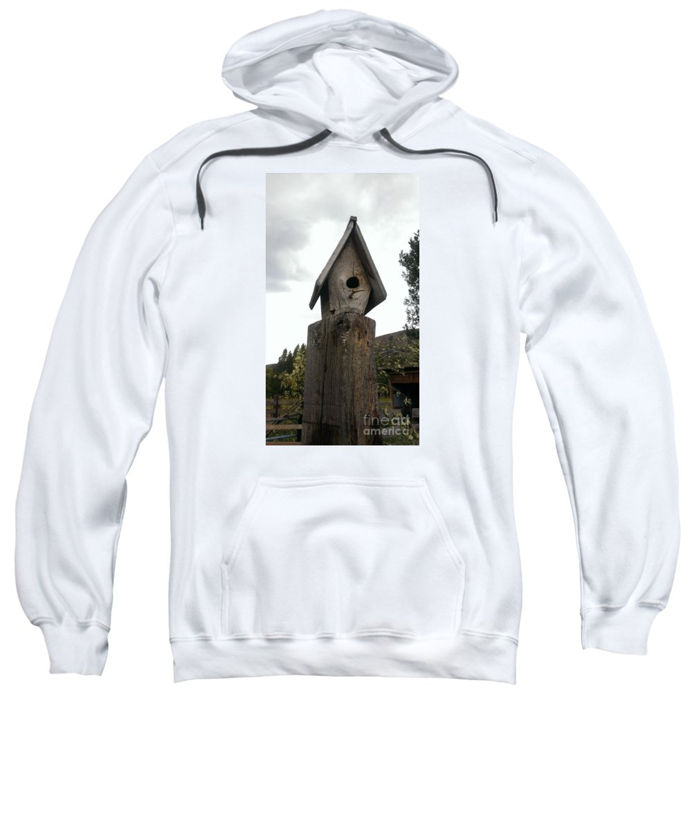 Bird House Sweatshirt featuring the photograph Home For The Birds by LKB Art and Photography