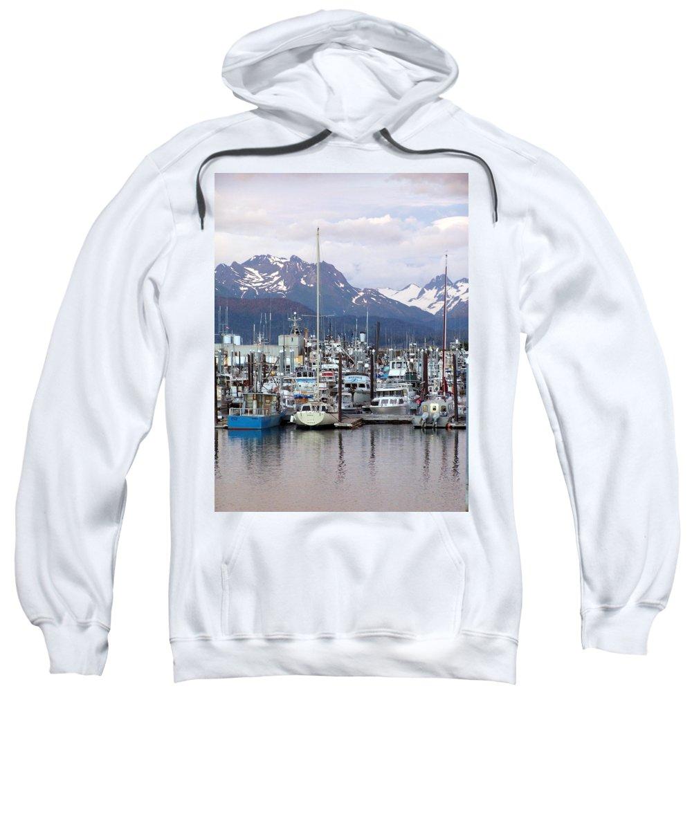 Homer Alaska Sweatshirt featuring the photograph Homer Harbor by Marty Koch
