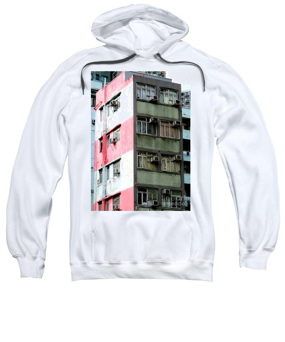 Hong Kong Sweatshirt featuring the photograph Hong Kong Apartment 3 by Randall Weidner