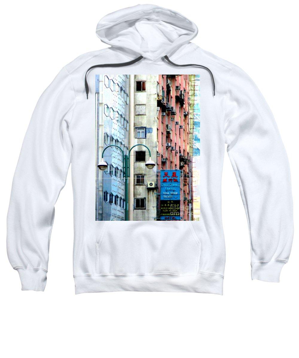 Hong Kong Sweatshirt featuring the photograph Hong Kong Apartment 6 by Randall Weidner