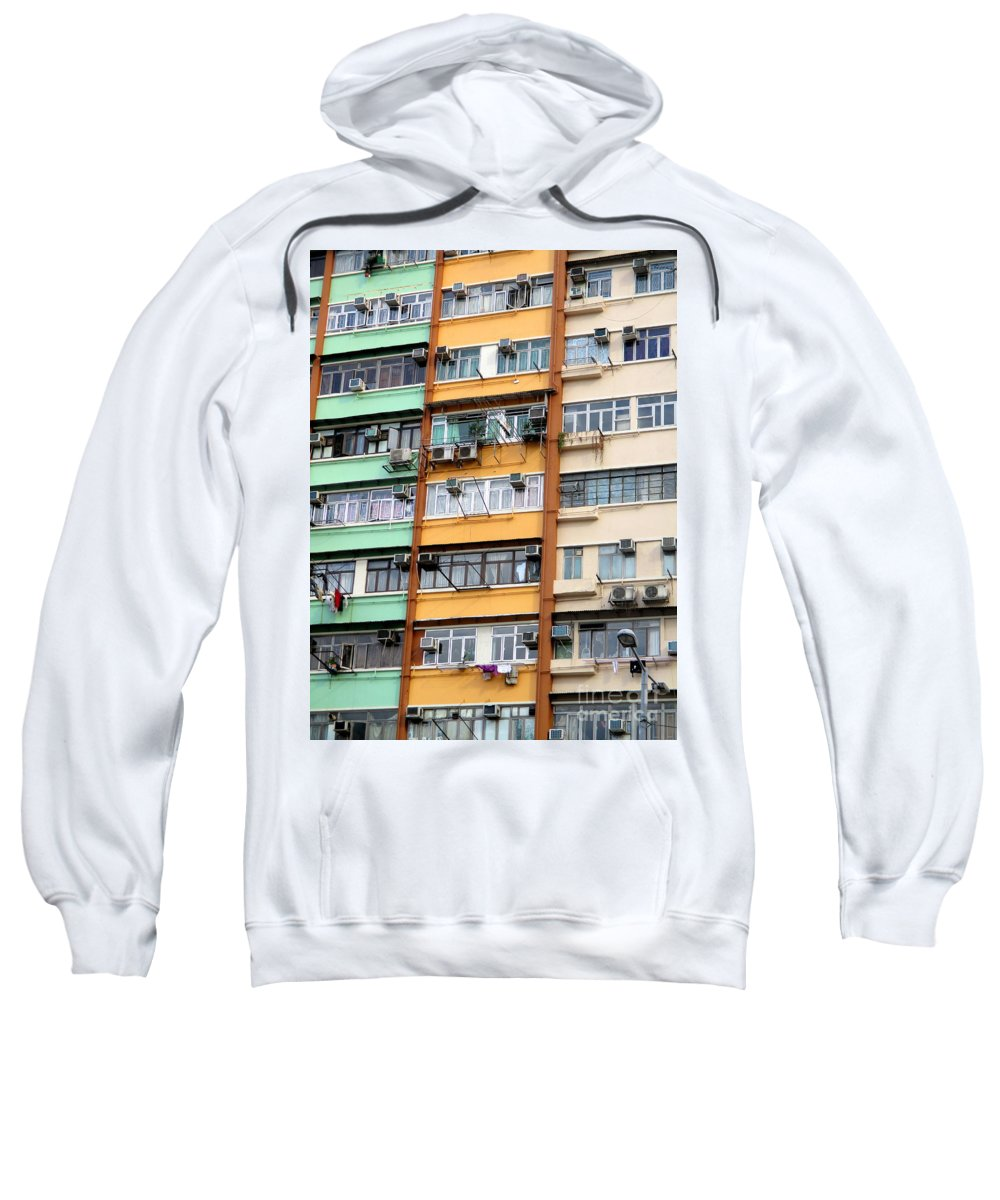 Hong Kong Sweatshirt featuring the photograph Hong Kong Apartment 9 by Randall Weidner