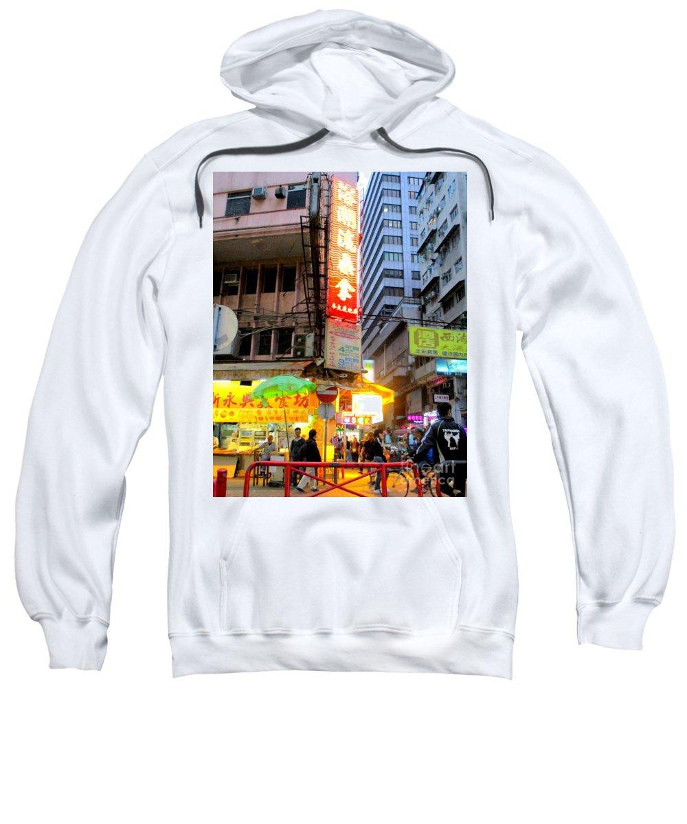 Hong Kong Sweatshirt featuring the photograph Hong Kong Sign 13 by Randall Weidner