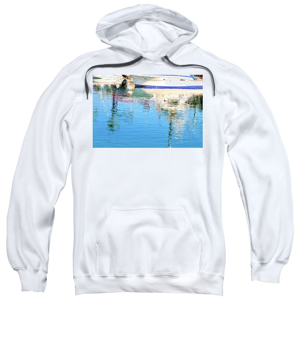 David Lawson Photography Sweatshirt featuring the photograph Honokohau Reflections by David Lawson