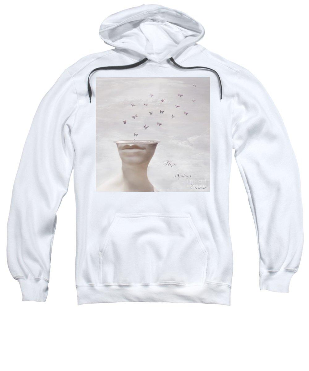 Surreal Sweatshirt featuring the digital art Hope Springs Eternal by Jacky Gerritsen