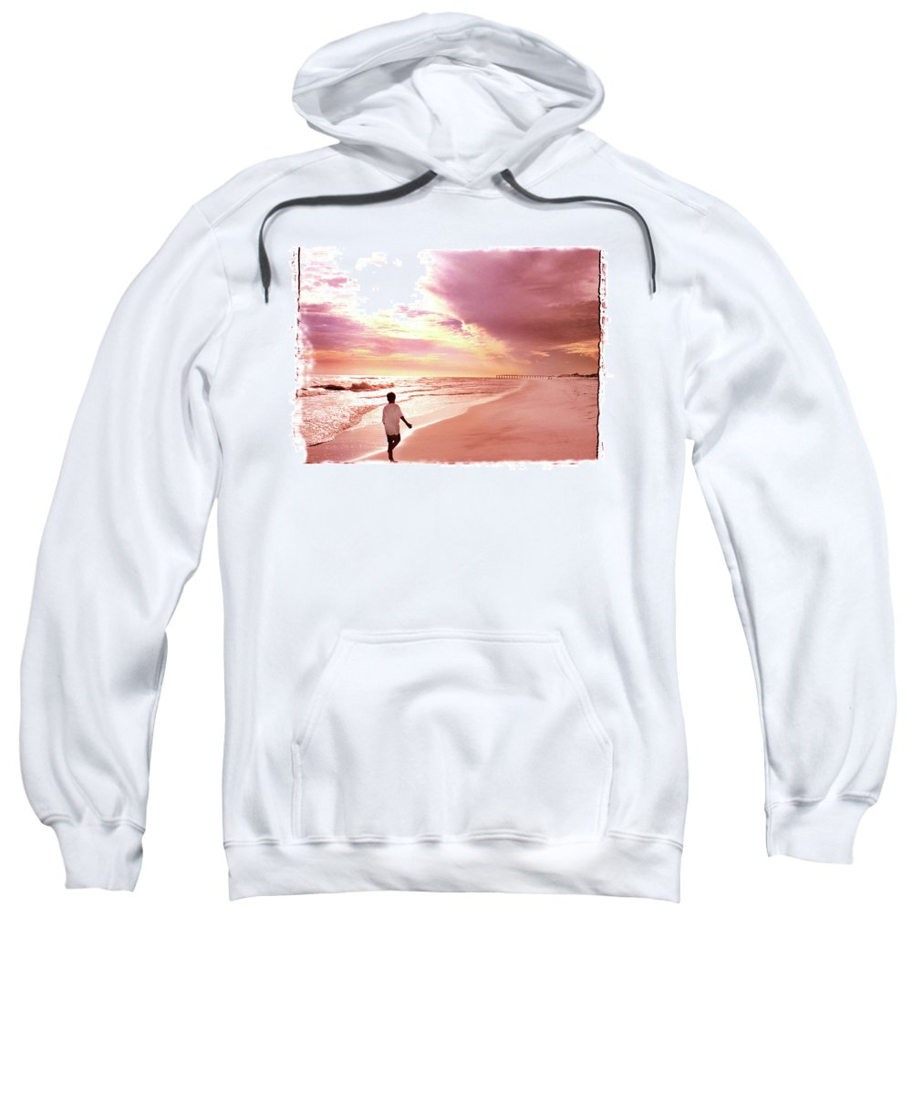 Sunset Sweatshirt featuring the photograph Hope's Horizon by Marie Hicks