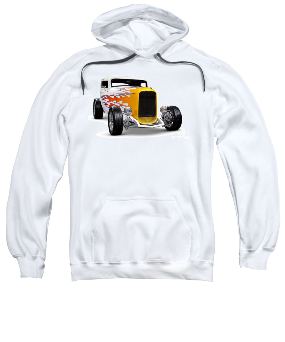 Hot Rod Sweatshirt featuring the photograph Hot Rod Ford Hi-boy Coupe 1932 by Oleksiy Maksymenko
