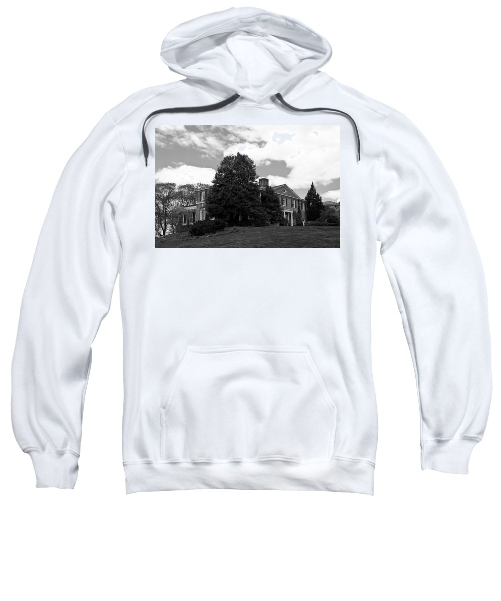 Landscape Sweatshirt featuring the photograph House On The Hill by Jose Rojas