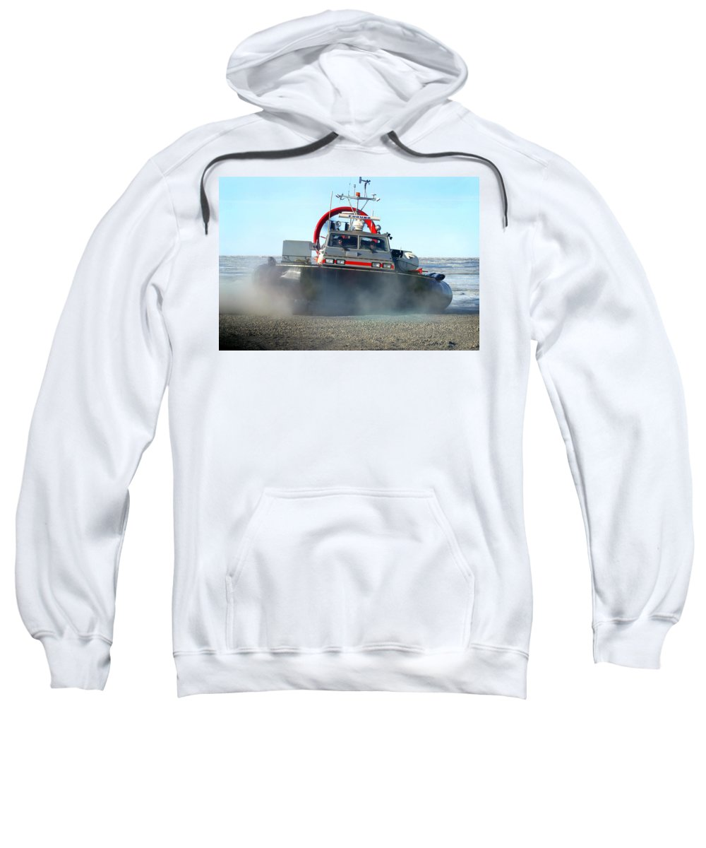 Hover Craft Sweatshirt featuring the photograph Hover Craft by Anthony Jones