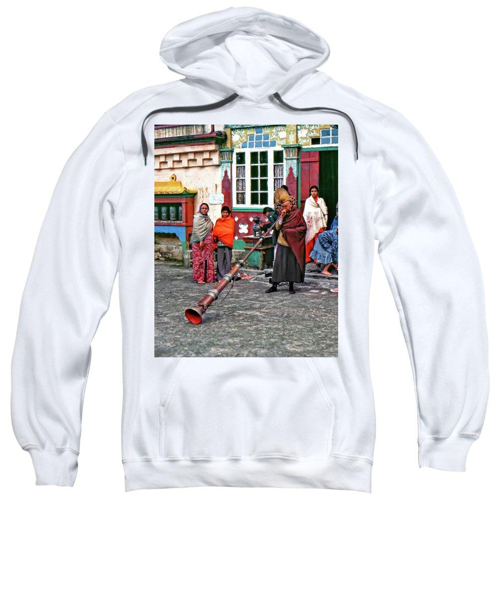 Ghoom Monastery Sweatshirt featuring the photograph Huff And Puff by Steve Harrington