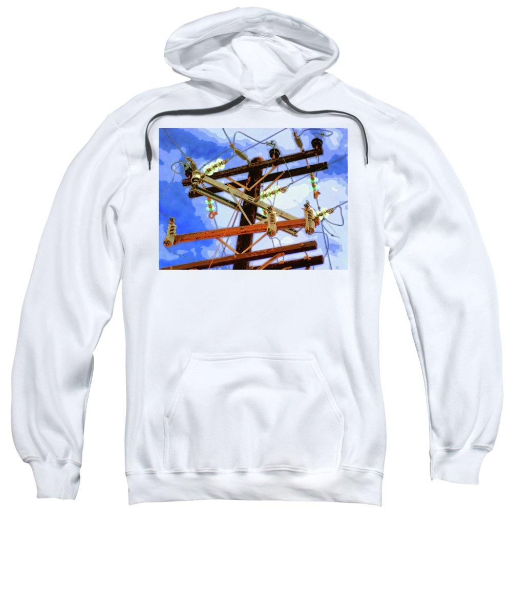 Hydra Sweatshirt featuring the mixed media Hydra by Dominic Piperata