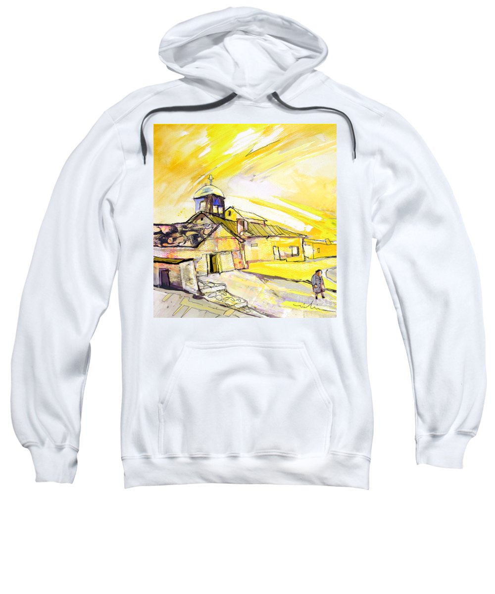 Fantasy Sweatshirt featuring the painting I Am Leaving Spain Now by Miki De Goodaboom