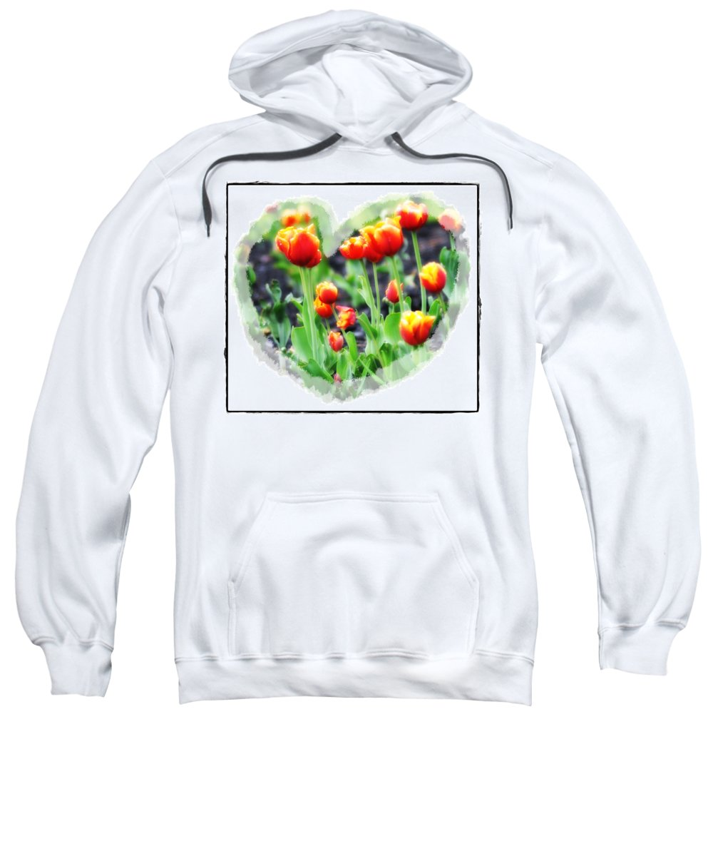 Heart Sweatshirt featuring the photograph I Heart Tulips by Bill Cannon