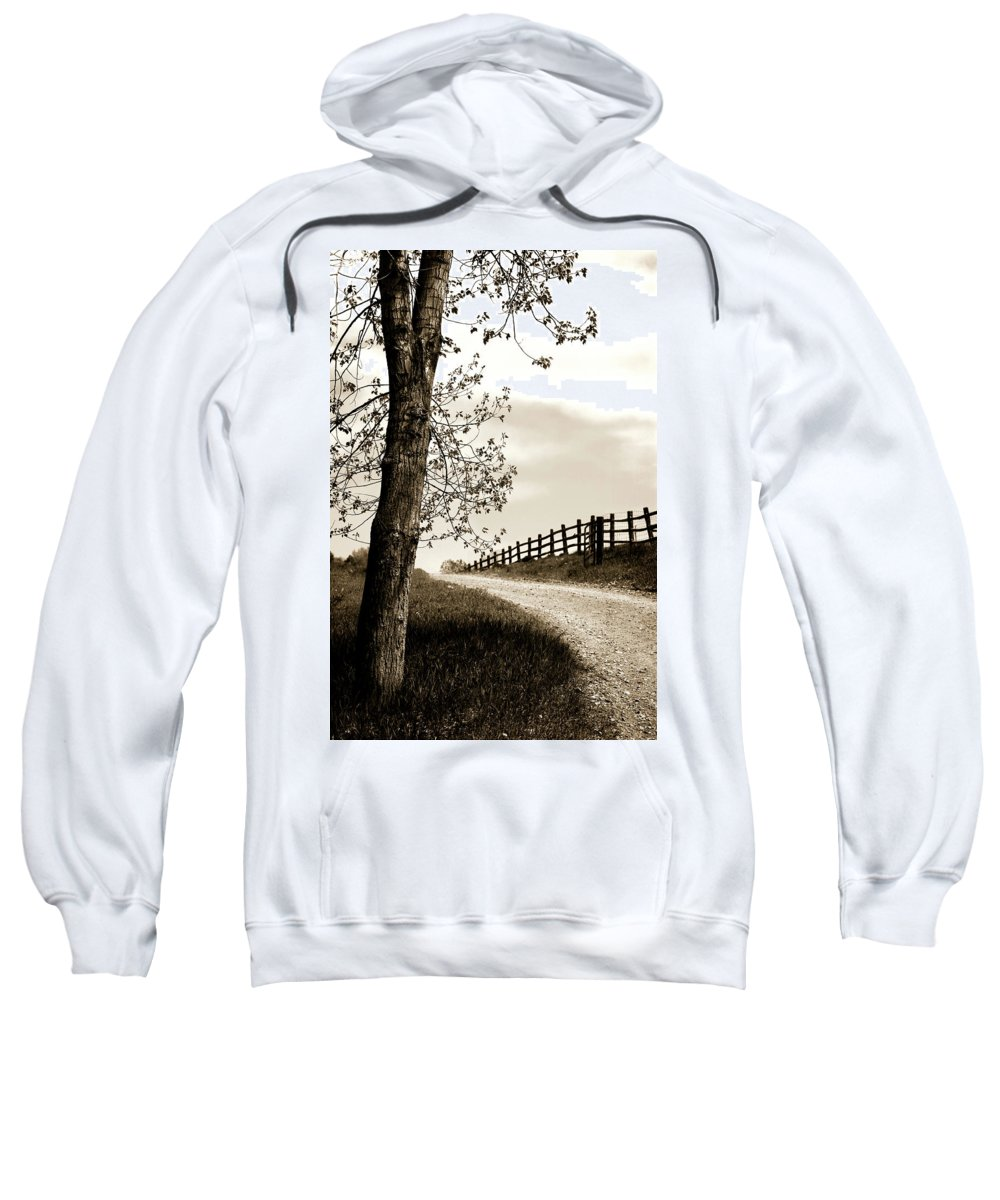 Walk Sweatshirt featuring the photograph I Walk The Gravel Road 2 by Marilyn Hunt