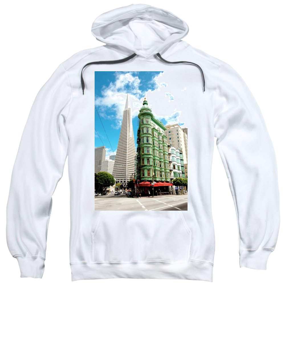 City Sweatshirt featuring the photograph Icons Of San Fran by Greg Fortier