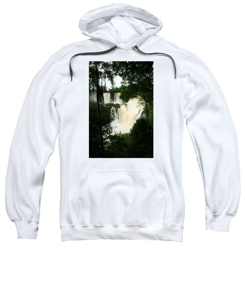 Argentina Sweatshirt featuring the photograph Iguazu Falls by Andrew Parker