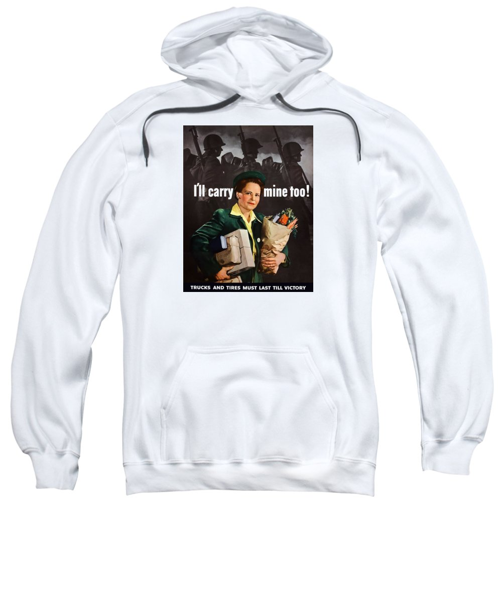 Housewife Sweatshirt featuring the painting I'll Carry Mine Too by War Is Hell Store