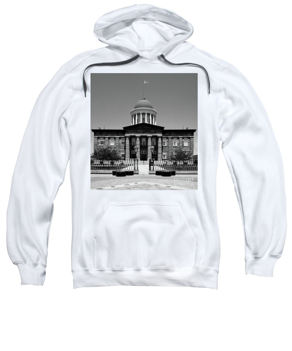 Illinois Sweatshirt featuring the photograph Illinois Old State Capital Building by Kimberly Blom-Roemer