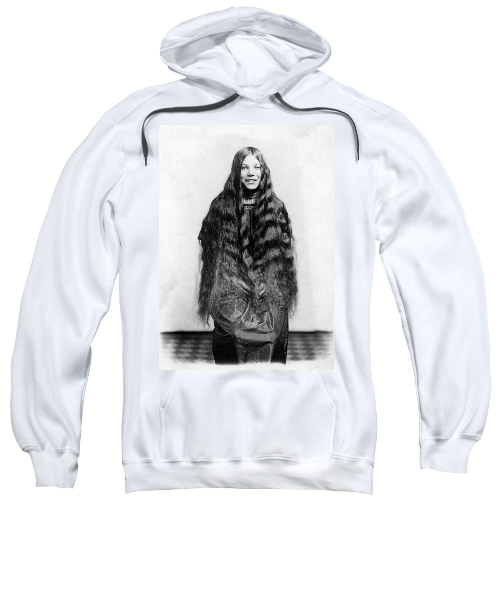 Girl Sweatshirt featuring the photograph Img-28 Black And White by Unknown Artist