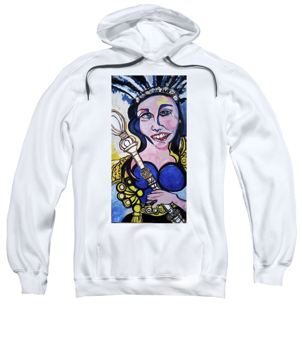 Abstract Sweatshirt featuring the painting Important by Greta Redzko