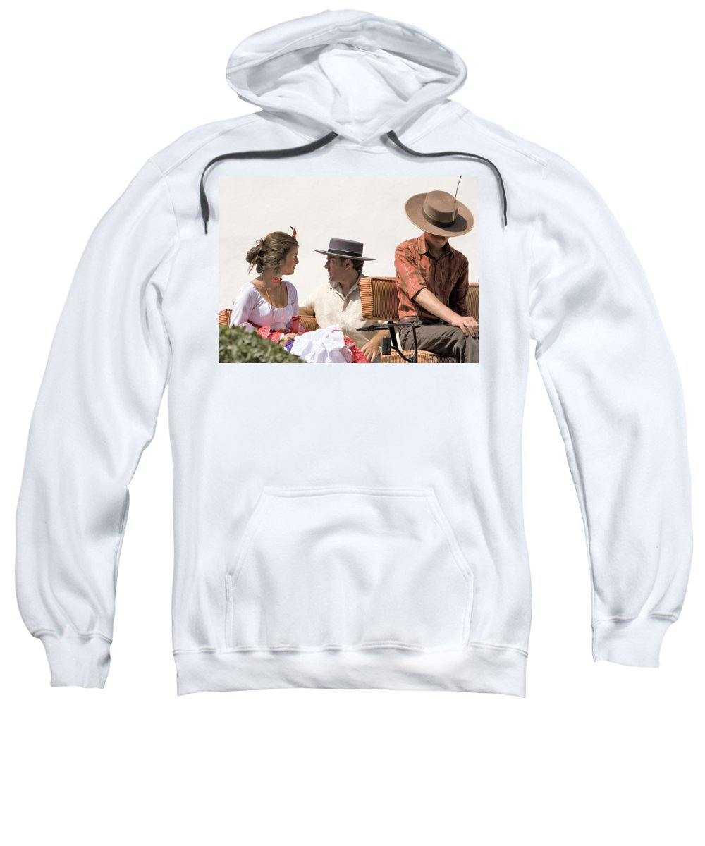 Flamenco Sweatshirt featuring the photograph In Flamenco Dress For The Bullfight by Mal Bray