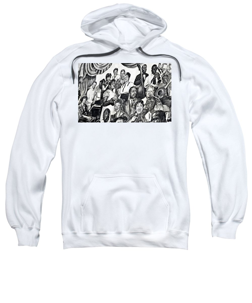 Louis Armstrong Airport Sweatshirt featuring the photograph In Praise Of Jazz IIi by Steve Harrington