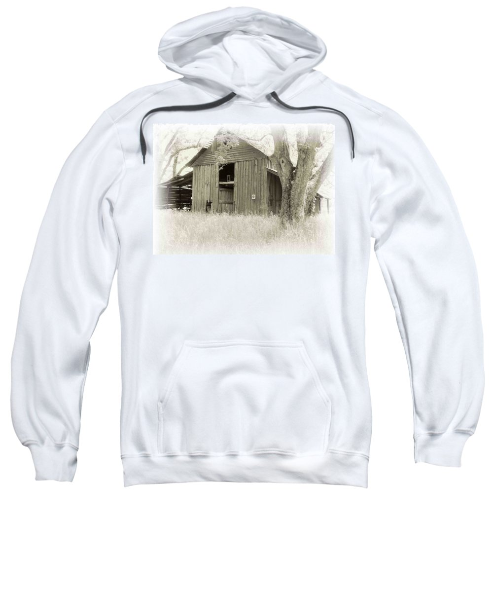 Barn Sweatshirt featuring the photograph In The Pecan Orchard by Nelson Strong
