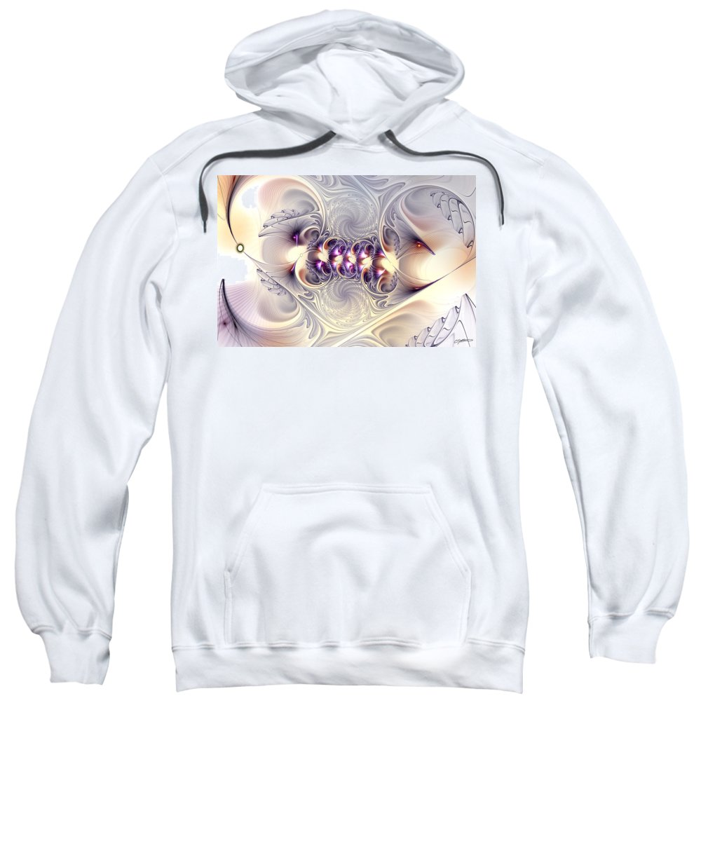 Abstract Sweatshirt featuring the digital art Incandescent Reminiscences by Casey Kotas