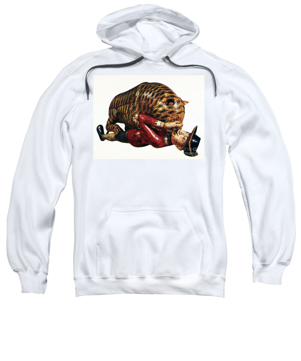 18th Century Sweatshirt featuring the photograph India: Tiger Attack by Granger