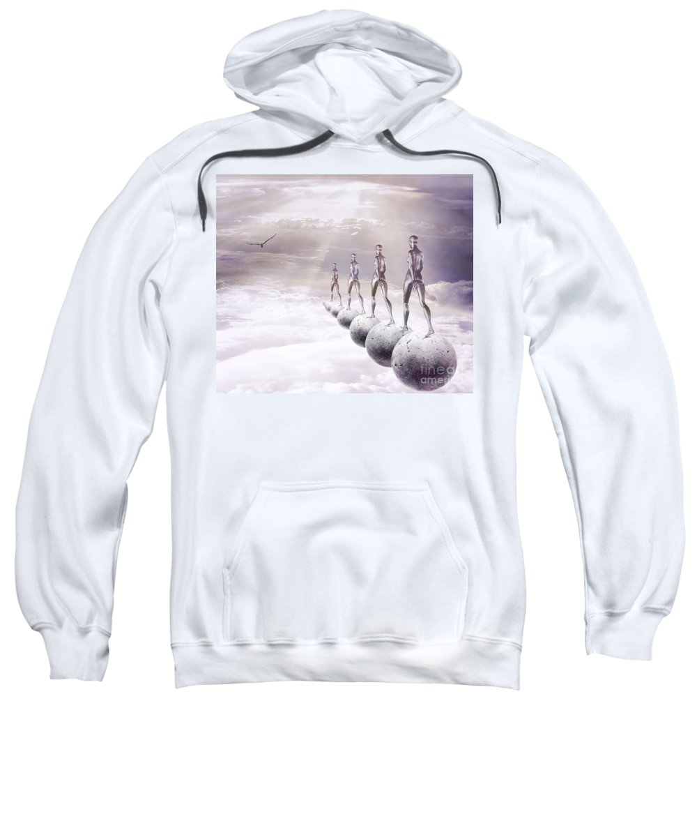 Surreal Sweatshirt featuring the digital art Infinity by Jacky Gerritsen