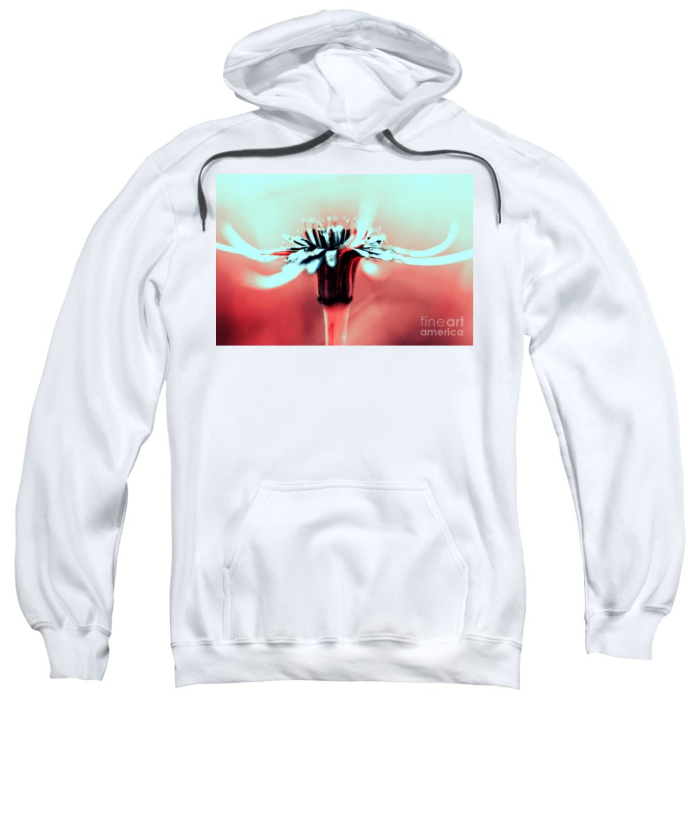 Infrared Sweatshirt featuring the photograph Infrared Wildflower by Stelios Kleanthous