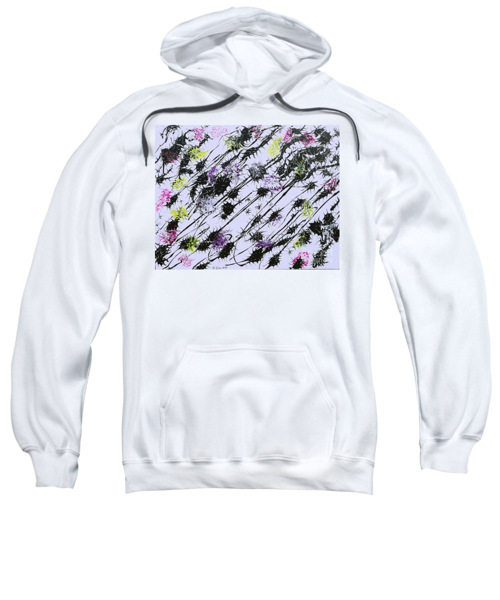 Keith Elliott Sweatshirt featuring the painting Insects Loathing - V1db100 by Keith Elliott