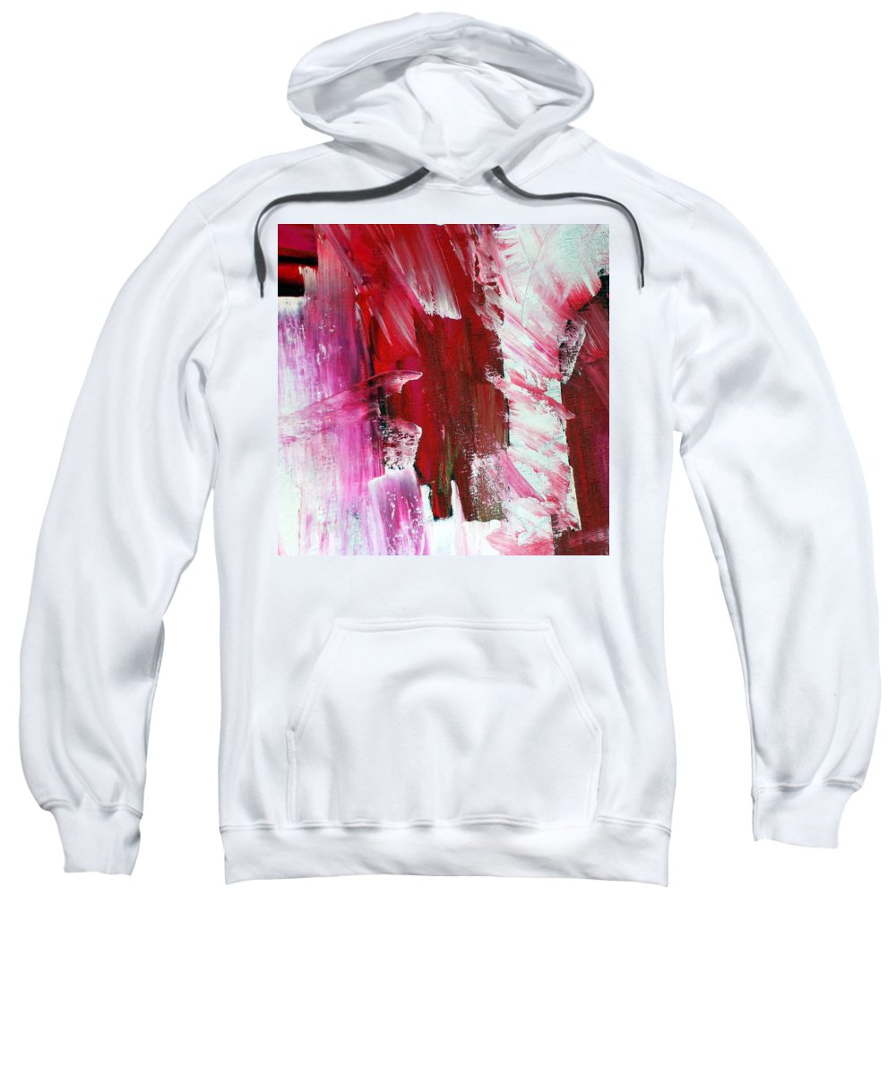 Red Sweatshirt featuring the painting Inspiration by Dawn Hough Sebaugh