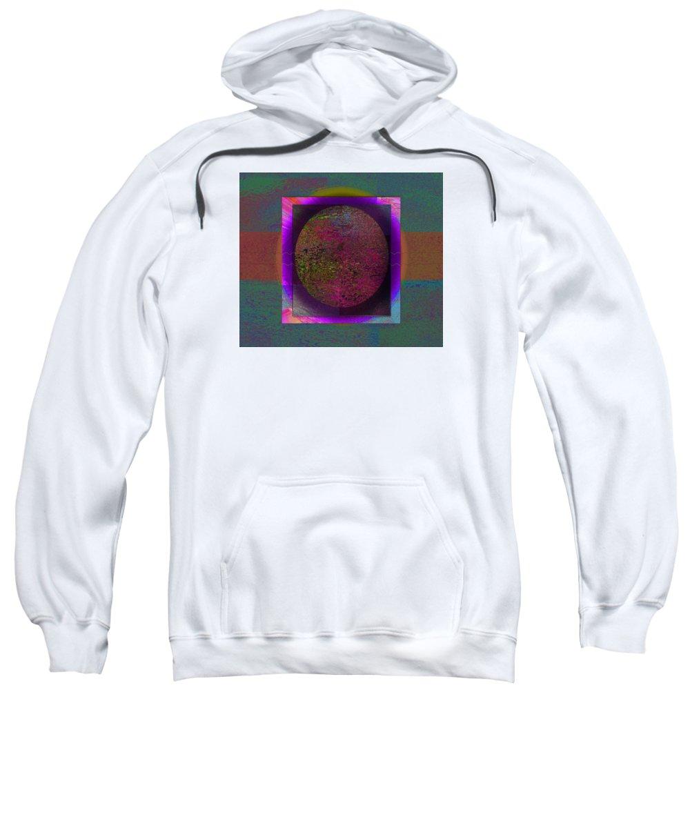 Sweatshirt featuring the digital art Intensense by Mary Hanrahan