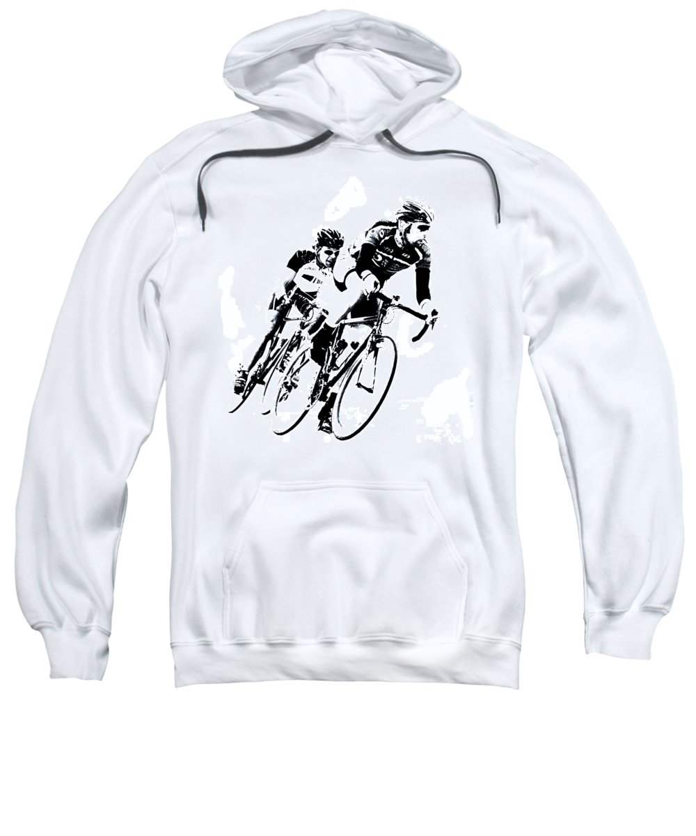 Cycle Sweatshirt featuring the digital art Into The Curve by Mark Hendrickson