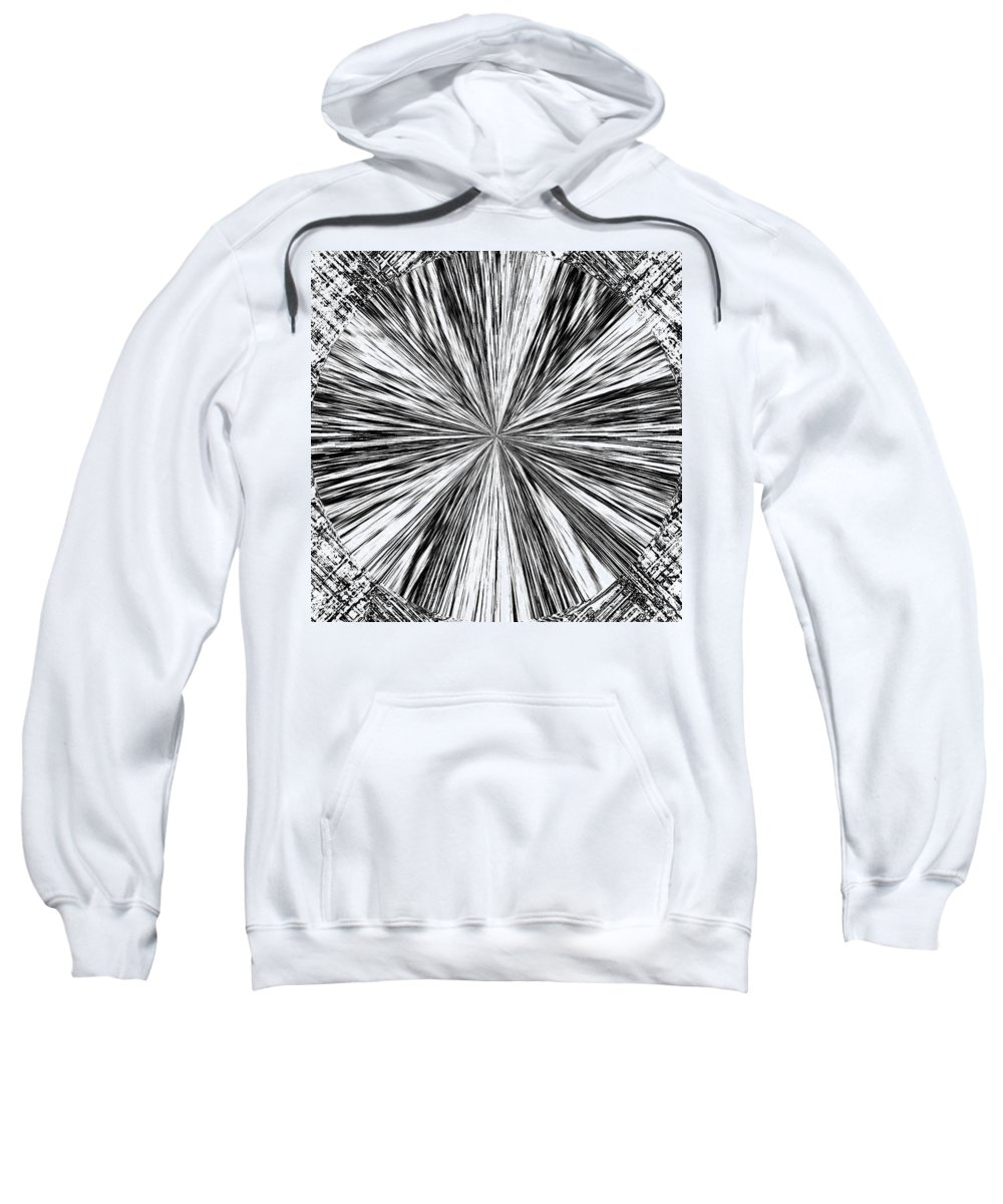 Black & White Sweatshirt featuring the digital art Introspective by Will Borden