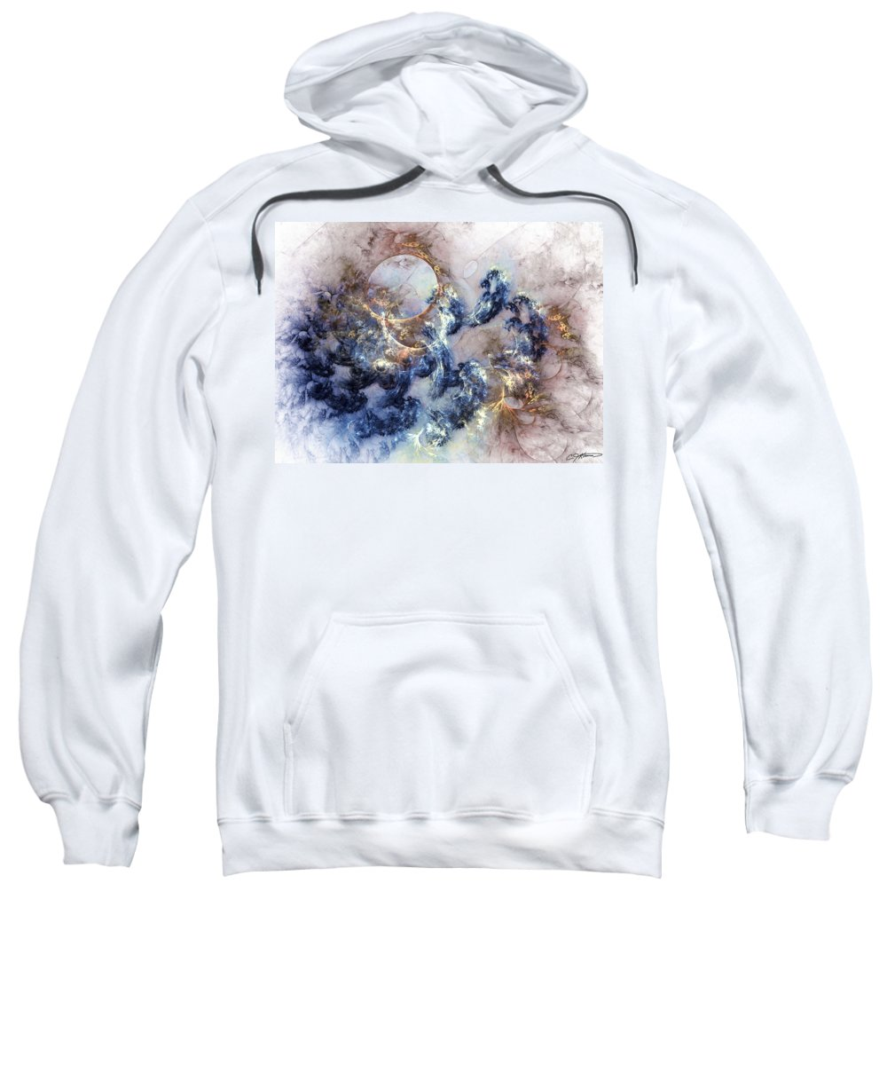Abstract Sweatshirt featuring the digital art Ion Storm by Casey Kotas