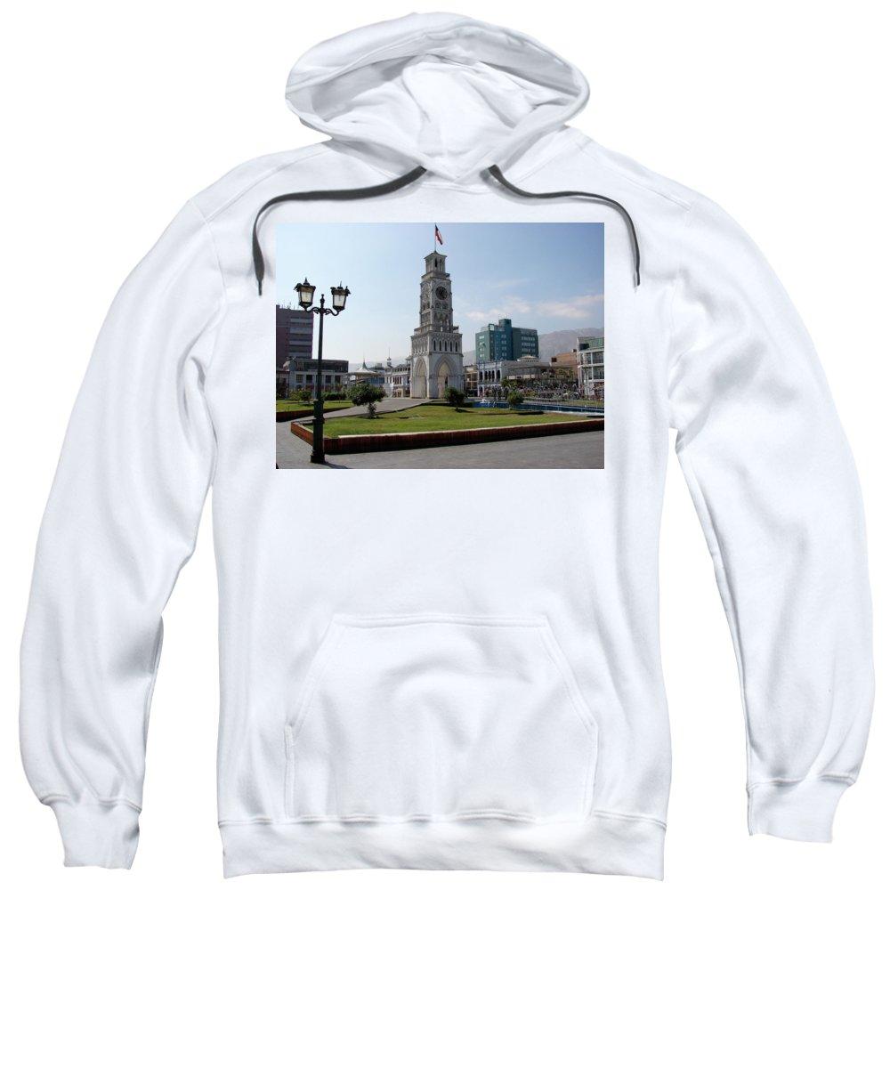 Iquique Sweatshirt featuring the photograph Iquique Chile Plaza by Brett Winn