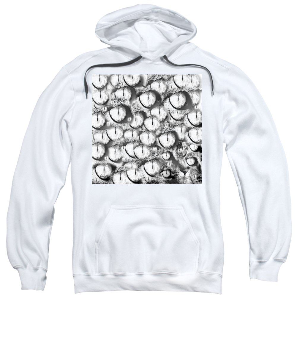 Eye Sweatshirt featuring the digital art Iris 2 by Betsy Knapp